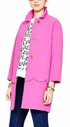 Hot pink Kate Spade coat on sale!