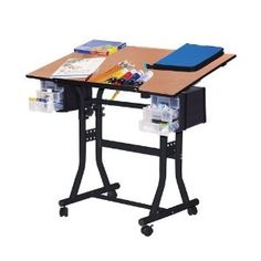#9: Martin Creation Station Art-Hobby 24-Inch by 40-Inch Surface Table, Black with Cherry Top