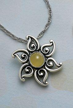 Yellow Opal Sun Pendant from James Avery Jewelry #jamesavery
