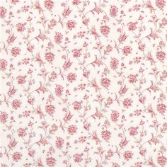 Pink Fronds and Blooms Wallpaper