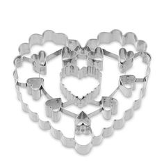 This makes beautiful Valentine's cookies...Giant Valentine Cookie Cutter Heart with Cutouts #williamssonoma