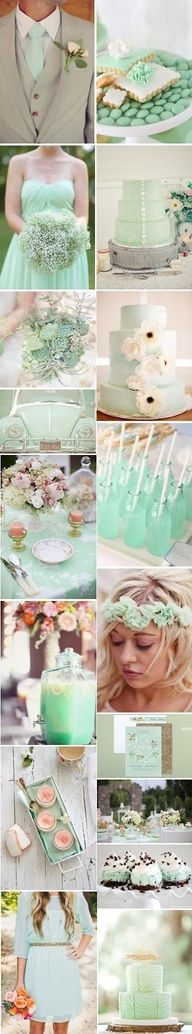 A Kiss of Color | Style, Decor, DIYs, Beauty, Weddings, Life.: Be Inspired: The Mint Wedding  MINT!!! OBSESSED!