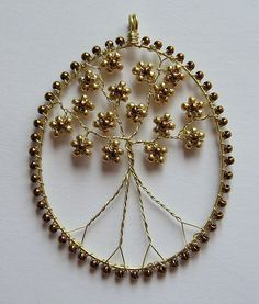 Golden Tree of Life | Champagne craft wire with gold and bro… | Flickr