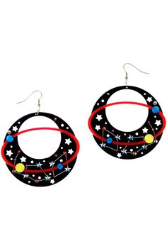 Why not adorn your ears with something special and explore the range of eye-catching acrylic earrings from Tatty Devine? From studs and drops to charms, we have a pair of earrings for every occasion and every season. Jewelry Art, Jewelry Accessories, Devine Design, Tatty Devine, Astronomy, Wearable Art, Jewelery, Crochet Earrings, Handmade Jewelry