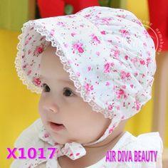 New born Baby Girls Kids Cotton Flower Sun Cap Bonnet Sunhat sun hat Beanies