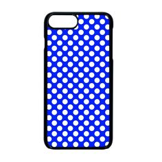 Dark blue and white polka dots pattern, retro pin-up style theme, classic dotted theme iPhone 8 Plus Seamless Case (Black) Dark Blue, Blue And White, Black, Iphone 8, Iphone Cases, Apple Mobile, Retro Pin Up, Pin Up Style, Up Styles