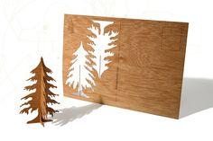postcard wood - one fircard. €4.00, via Etsy.