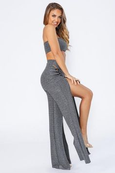4aff3702a3e0 Friday Night Metallic Tube Top & Pants SET--KNOWSTYLE | Two piece set  featuring
