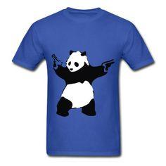 Banksy Panda Guns Graffiti T-Shirt | Spreadshirt | ID: 9574787