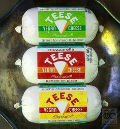 Teese Vegan Cheese Alternative - tastes and melts GREAT! #vegan #cheese #glutenfree #soyfree
