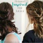 Easy 4 step Pinterest Inspired hair tutorial