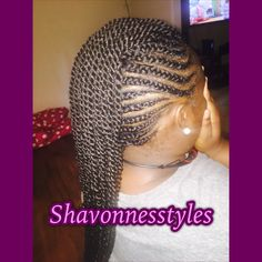 Braided Mohawk with SENEGALESE twist
