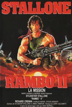 COLECCIÓN DE CARTELES ANTIGUOS DE CINE- Rambo II 1985, con Sylvester Stallone