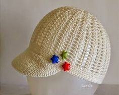 Crochet cap on neutral tone for girls and boys. Beautiful. Step by step. Share. Kisses. - Crochet Designs Free