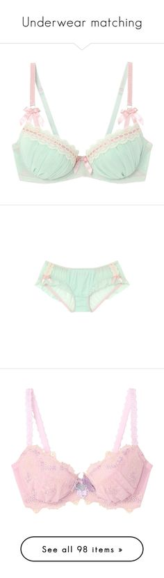 """""""Underwear matching"""" by marisolfromchile ❤ liked on Polyvore featuring intimates, bras, underwear, lingerie, lingerie bras, panties, undies, undergarments, lace lingerie and h&m bras"""