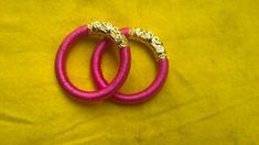 making basic silk thread bangle for beginners(english) Silk Thread Bangles Design, Thread Jewellery, Diy Jewellery, Makeup Order, Bridal Bangles, Paper Flowers, Jewelery, Gold Rings, Handmade Jewelry