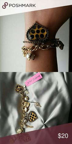 Betsey Johnson bracelet Gold Charm bracelet Betsey Johnson Jewelry Bracelets