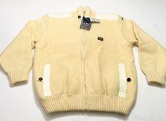 Paul & Shark Yachting L Heavy Wool Creme Reversible Sweater Vest Men's NEW NWT #PaulShark #FullZip