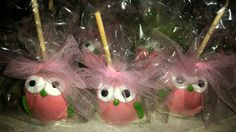 Owl themed candy apples