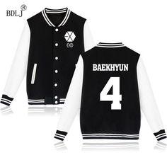 BDLJ 2017 Jacket EXO Boys Luhan Kris Chanyeol Sweatshirt Tracksuit Winter Autumn Long Sleeve Women Hoodies Baseball Outerwears