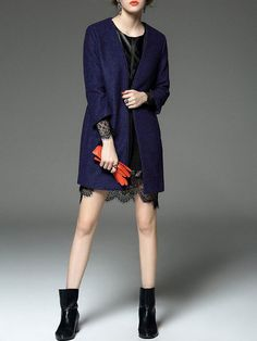 Paneled Wool blend Trench coat