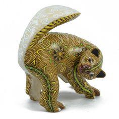 Oaxacan Wood Carving: Francisco Hernandez Cruz: Badger