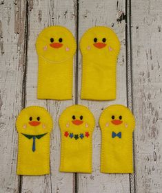 Cold Princess finger puppets stocking stuffers easter basket fillers pretend play felt toys party favors