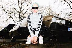 Tracksuit Top: Adidas  Vinyl Pants: Mango  Sunglasses: LeSpecs  Nike Air Force 1: here & here    Photos by Carlos Fernandez Laser