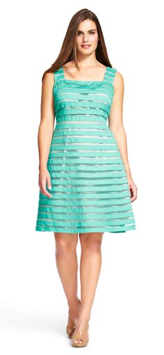 923f46eab5bb Adrianna Papell fit and flare with contrast lining