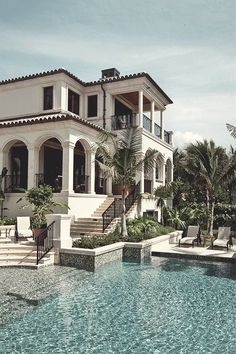 Haus pläne Design A House For Shelter As Well Villa For Family Water Fountains as a gatew Dream Home Design, My Dream Home, House Design, Mansion Homes, Mansion Interior, Storey Homes, Mediterranean Homes, Mediterranean Architecture, Tuscan Homes