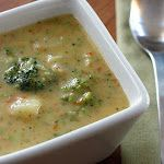 Potato, broccoli, cheese soup  I love Broccoli & Cheese--I must try this!