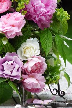 my french country flowers - roses from the garden 1