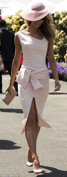 Jennifer Hawkins wearing custom Maticevski at Oaks Day 2014 www.tonimaticevski.com