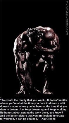 Kai Greene, the man who came from nothing.
