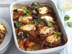 461 fat per portionSweet potatoes and lentils make this dish nice and filling while the salty halloumi is a nice naughty treat - well if it comes under 500 cals it can't be that bad, right? Get the recipe: Turkish halloumi bake High Protein Vegetarian Recipes, Veggie Recipes, Cooking Recipes, Fast Recipes, Cheap Recipes, Yummy Recipes, Healthy Food, Dinners Under 500 Calories, Baked Dinner Recipes