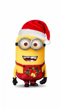 Despicable Me Minion Merry Christmas iPhone 6 Wallpaper