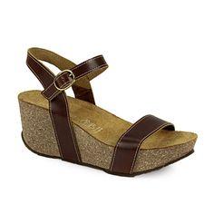 Πλατφόρμες με εξωτερικά λουριά Wedges, Sandals, Shoes, Fashion, Moda, Shoes Sandals, Zapatos, Shoes Outlet, Fashion Styles