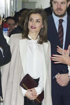 Queen Letizia of Spain visits Zeta Group on its 40th anniversary on December 12, 2016 in Madrid, Spain. - Spanish Royals Visit Zeta Group On Its 40th Anniversary