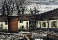 Artwork by Bernard Buffet, La ferme Duval, Le pigeonnier - Environs d'Orchie (Nord), Made of Canvas