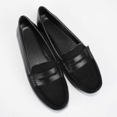 Pony Hair Loafers - Black - Flats - Shoes | CHARLES & KEITH