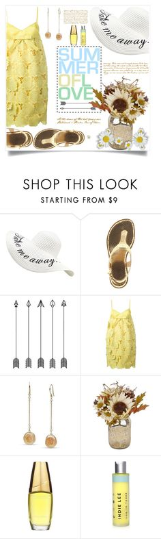"""""""Mellow Yellow"""" by beiacas ❤ liked on Polyvore featuring MICHAEL Michael Kors, Rochas, Estée Lauder, Indie Lee and yellow"""