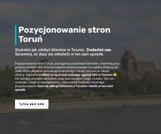 Szybkie pozycjonowanie stron Toruń