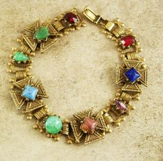 """This is one gorgeous figural maltese cross victorian bracelet . The bracelet measures 7 """" when closed and is in great condition. Ask about our ten percent off special before you buy, it could save you a lot of money."""