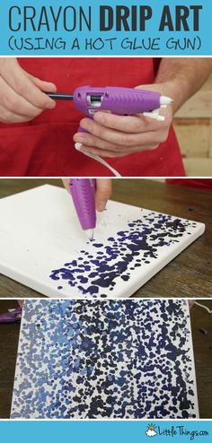 Swap Glue Sticks For Crayons to Create Drip Art