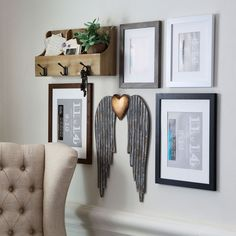 Add a special component to your framed wall art when you make these Angel Wings to add to your Gallery Wall