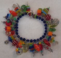 Fun and Funky Bracelet in bright colors by Cheryl Erickson.  See other projects at www.artisticbead.com.