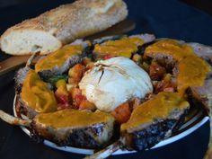 Rosemary Lamb Roast w/ Spicy Peach & Heirloom Tomato Salad