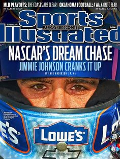 Jimmie Johnson on the cover of Sports Illustrated