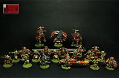 Axia painted Rolljordan (not Greebo)  Volmarian team (Chaos Dwarfs)