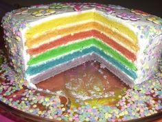 Regenbogenkuchen Rainbow-Cake